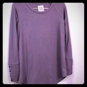 Chaser Purple Long Sleeve Top Small